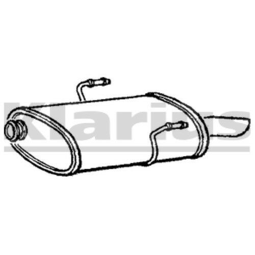 1x KLARIUS OE Quality Replacement Rear / End Silencer Exhaust For PEUGEOT