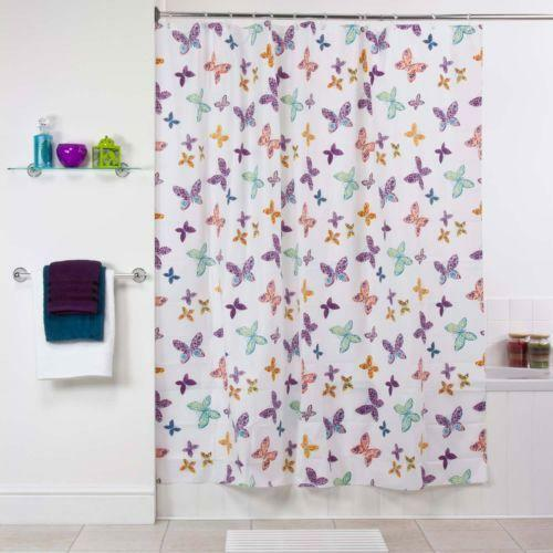 Curtains Ideas butterfly shower curtain : Butterfly Shower Curtain | eBay