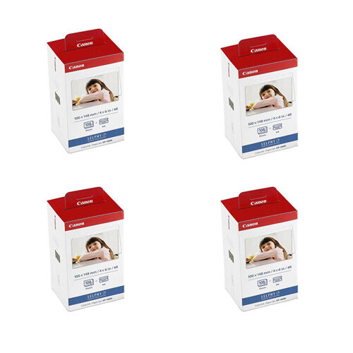 2 Pack Canon KP-108IN Color Ink and 4x6 Paper Set for SELPHY CP910 CP810 CP900