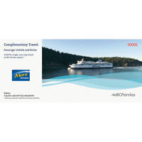 BC Ferry Vehicle and Driver Voucher/ticket