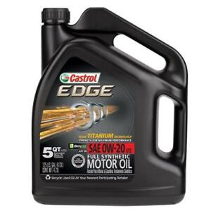 Castrol synthetic oil 0W20 and 5W30