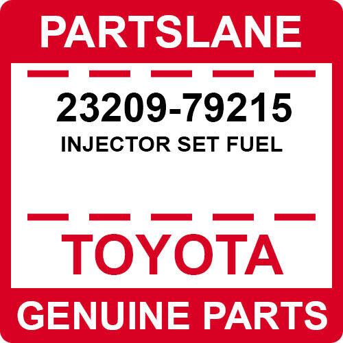 23209-79215 Toyota Oem Genuine Injector Set Fuel