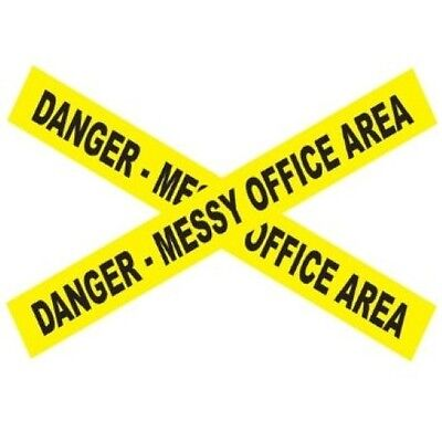 Danger - Messy Office Area Tape - Jokes, Gags, Pranks - Halloween - 15 Feet!