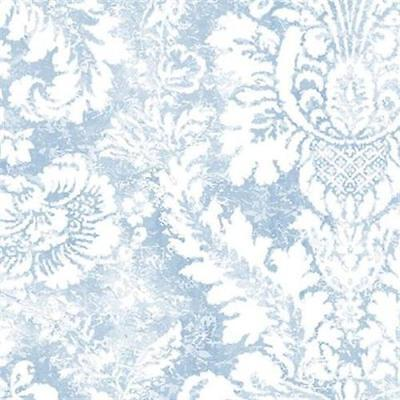 AB42422 Abby Rose 3 Blue and White Damask (Blue Rose Wallpaper)