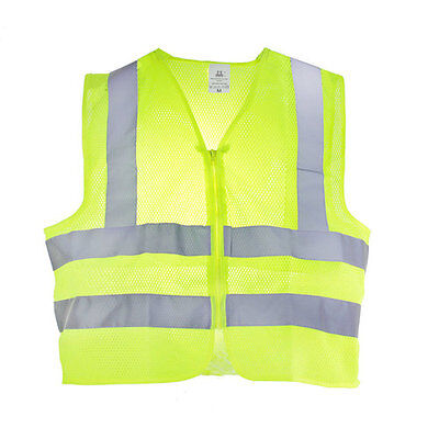 Class 2 Safety Vest High Visibility Reflective Stripes Pockets Ansi Neon Yellow
