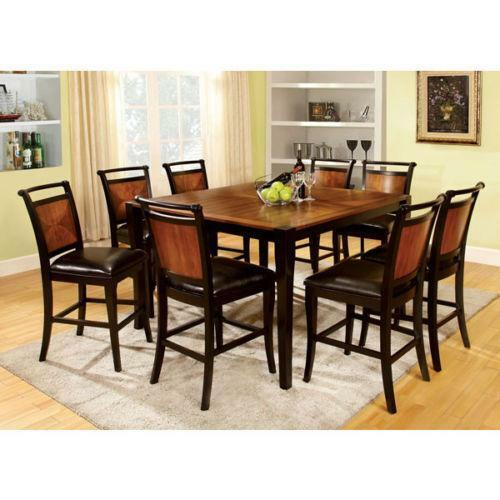 9 piece counter height dining set ebay for 9 piece dining room set counter height