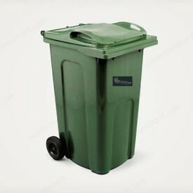New Wheelie Bin 240L - Standard Household Council Bin - Green colour 240 Litre