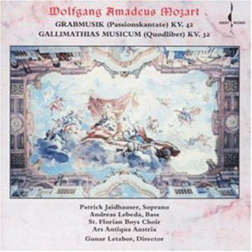Gunar Letzbor, W.a. - Grabmusik KV 42 / Gallimathias Musicum KV 32 [New CD]
