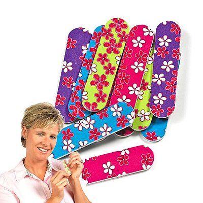 Mini Emery Boards Nail Manicure Pedicure File Floral Flower Hawaiian Print LOT (Mini Emery Boards)