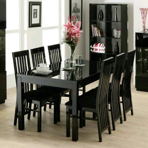 Black Gloss Dining Table And Chairs
