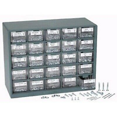 Assorted Sae Metric Nuts And Bolts Screws In Organizer Bin Drawers
