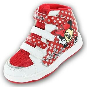 Girls-Disney-Minnie-Mouse-Hearts-Hi-Top-Trainers-Shoe-Sizes-6-12