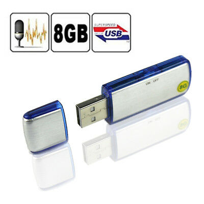 Spy Mini 8Gb Usb Disk Pen Drive Digital Audio Voice Recorder 150Hrs Recording Us