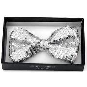 Silver Sequin Tie