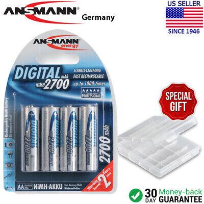 Ansmann Digital AA 2700mAh Rechargeable NiMH Batteries (4-Pack) + Battery - 4 2700mah Batteries