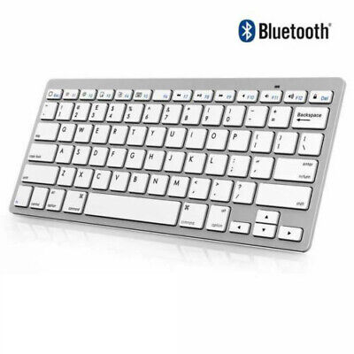 Slim Wireless Bluetooth Keyboard For iMac iPad Android Phone Tablet PC Computer