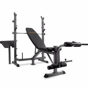 Multi Function Weight Bench & 115kg Barbell/Dumbbell Weights Set Bossley Park Fairfield Area Preview