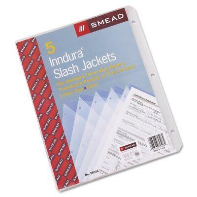 "Smead 89506 Clear Poly Translucent Slash Jackets - 9.25"" X 11.25"" - 3 (smd89506)"