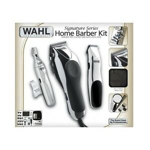 Home-Barber-Kit-Clippers-Scissors-Razor-Shears-Professional-Set-Case ...