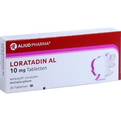 10 Mg 20 Tabletten (LORATADIN AL 10 mg Tabletten 20 St PZN 1653968)