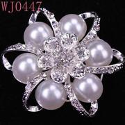 Pearl Flower Pins