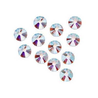 (HOTFIX Crystal AB Rhinestones SWAROVSKI 6ss 10ss 12ss 16ss 20ss 30ss 34ss)