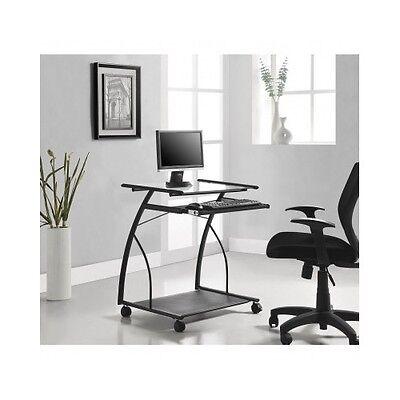 Rolling Mobile Computer Desk Laptop Stand Dorm Office Modern Furniture Table