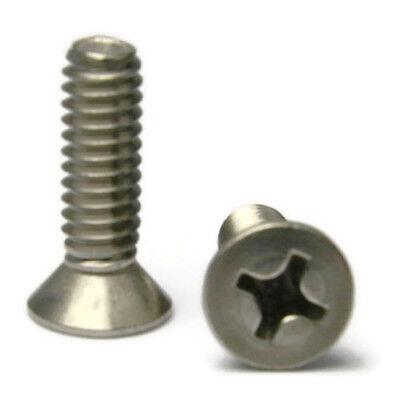 Stainless Steel Phillips Flat Head Machine Screws 516-18 X 1 Qty 25