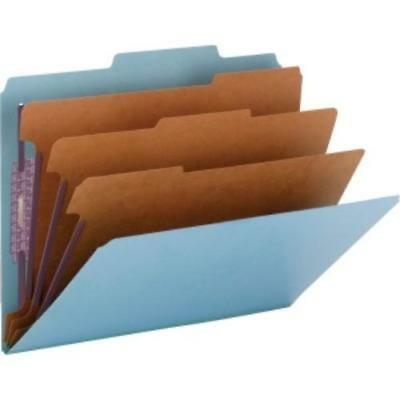 Smead Colored Pressboard Classification Folders with SafeSHIELD® Coated