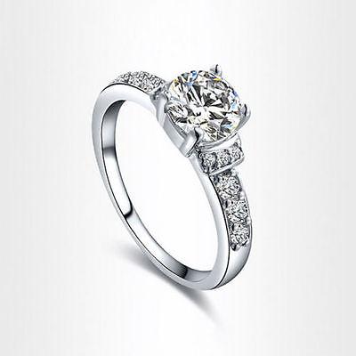 Ring - D/VVS1 Diamond Engagement Ring 2 Carat Round Cut 14k White Gold Bridal Jewelry