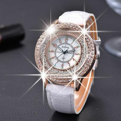 UK Crystal Diamante Women Girl Ladies Wrist Watches Fashion Watch Free Post