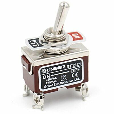 Baomain Toggle Switch Dpst Onoff 2 Position 250vac 15a 125vac 20a 12 Mount...