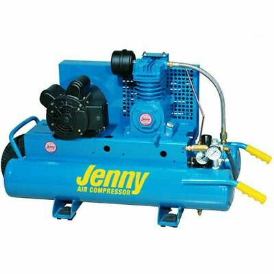 Jenny 1.5-HP 8-Gallon Electric Dual Voltage Wheelbarrow Air Compressor (120-2...