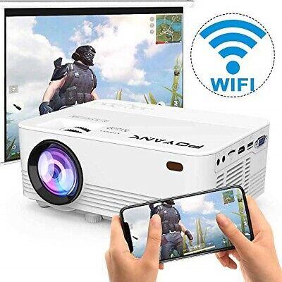 [Wireless Projector] POYANK 2500Lumens LED Wireless Mini Projector, WiFi Project