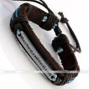 Leather Name Bracelet