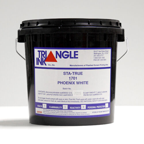 Triangle Ink Sta-True 1701 Phoenix White Screen Printing Ink, Gallon
