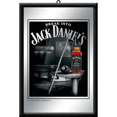 Barspiegel Jack Daniels Billard,  20 x 30 cm Retro Nostalgie, Werbung