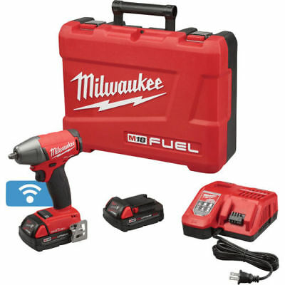 """Milwaukee M18 FUEL 3/8"""" Impact Wrench w/ Friction Ring & ONE-KEY 2758-22CT New"""