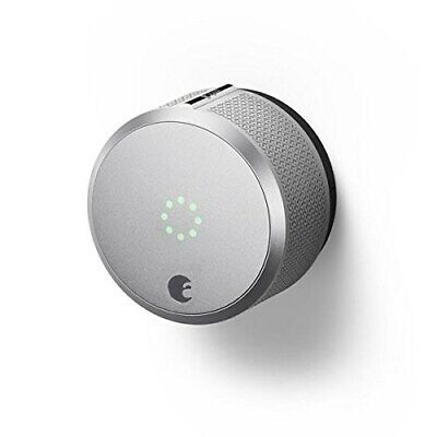 August AUG-SL-CON-S03 Silver Smart Lock Pro, 3rd Generation-