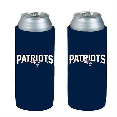 New England Patriots 2 Pack Ultra Slim Can Holder - Skinny Koozie