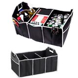Car Trunk Auto Organizer with 3 Compartments