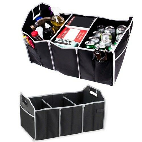 USA Large Car Auto Trunk Organizer with 3 Compartments Storage Bag Pocket Pouch