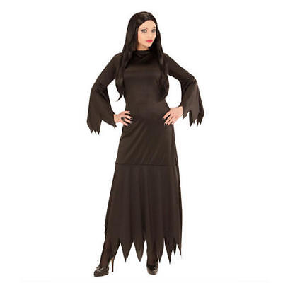 Womens Ladies Morticia Halloween Fancy Dress Costume Outfit - Morticia Outfit