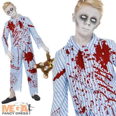 Zombie Pyjama Boy Costume Halloween Kids Fancy Dress Outfit Teens Ages 7-15