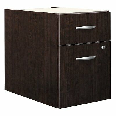 Bush Corsa Series 2-drawer Lateral Wood File Storage Cabinet Mocha Cherry