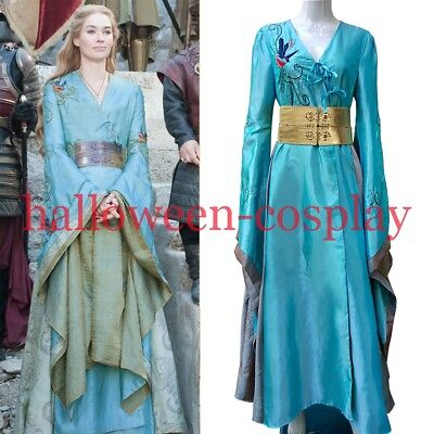 2017 Queen Cersei Lannister Dress Green Luxury Game Of Thrones Cosplay Costume