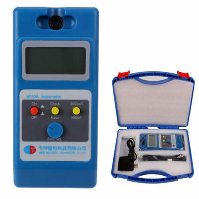 Tesla Meter Wt10a Lcd Gaussmeter Surface Magnetic Field Tester W Ns Function