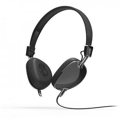 Skullcandy Navigator On Ear Foldable Headphones Headset W Mic   Remote  Black
