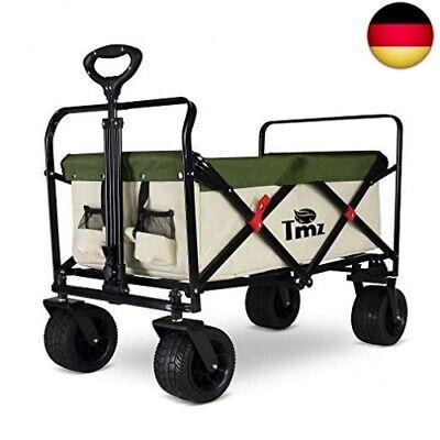 TMZ Faltbarer Bollerwagen All-Terrain Autoreifen Klappwagen Outdoor