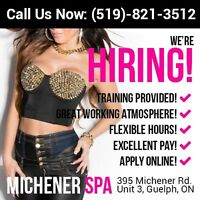 HIRING: Receptionists and Attendants for Guelph Spa